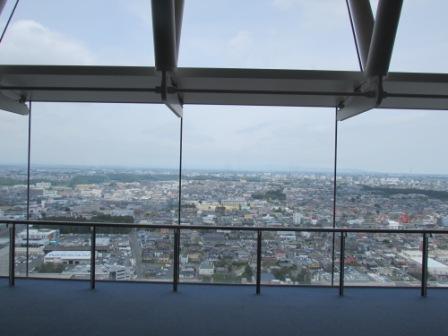 茨城県庁展望台からの眺め