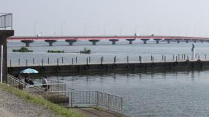 茨城県行方市霞ヶ浦の釣り風景