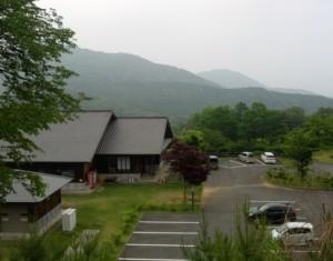 つくばねオートキャンプ場丘の上からの風景