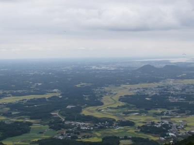 関東平野が一望できるトレイルランのコース