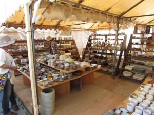 笠間焼ある店舗の様子