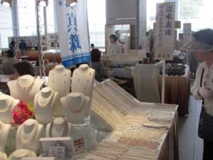 茨城県工芸品展の明恒パールのブース