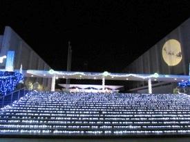 県民文化センター階段のイルミネーション