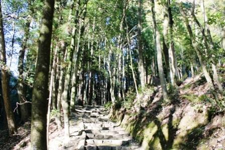 西山の里から住居跡に向かう途中はこのような道