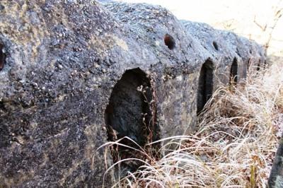 反射炉建設のため、レンガを焼成する窯があります。