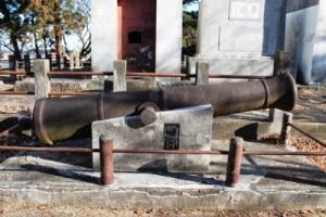鋳造した大砲の模型です。