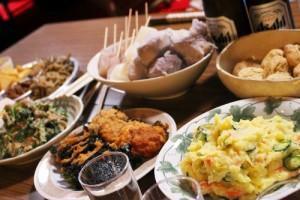 石岡で採れた食材を使った手料理